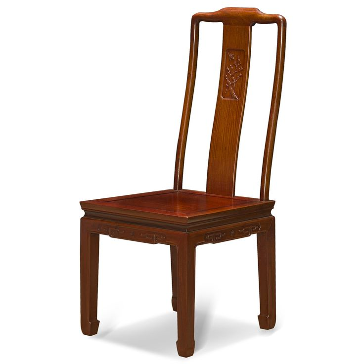Rosewood Bird And Flower Motif Side Chair