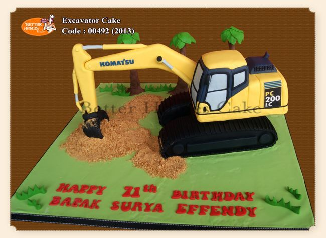 17 best ideas about digger cake on pinterest for Digger cake template