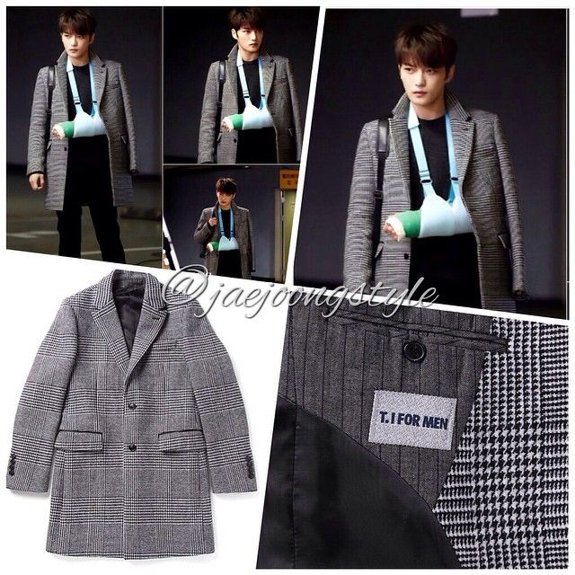 """JJ wore a """"T.I For Men"""" #coat (No. M148MCT320M) for his role in his upcoming #drama entitled #SPY.  Price: ₩638,000. Credit: KBS and tiformen. #KimJaejoong #김재중 #actor #스파이 #KoreanDrama #MICE #TheGordinCell #Allegiance @t.ifm"""