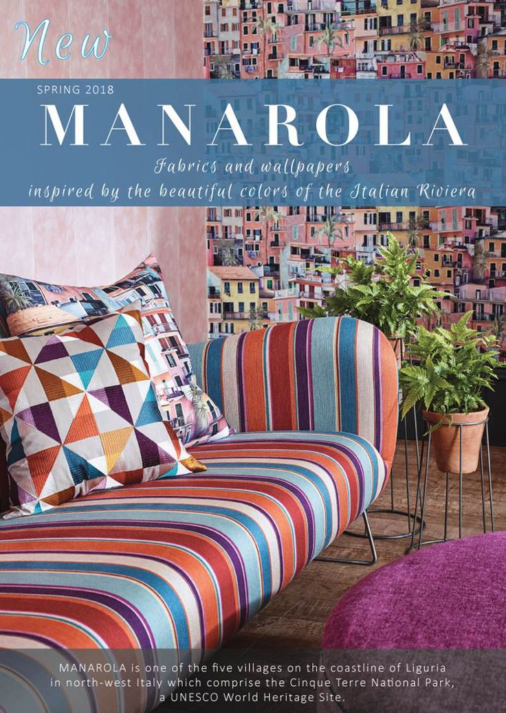 OSBORNE & LITTLE New Collection MANAROLA exclusively through http://www.primavera.ca/  The Italian Riviera is the inspiration for this collection of printed, woven and embroidered fabrics in which the typical colours of the region predominate: citrus tones, raspberry, terracotta, aquamarine, azure.  #primaverainteriorfurnishings  #wallpaper #wallpapers #wallcovering #fabrics #fabric #textiles #design #interiordesign #decor #interior #interiors #living #homedesign #instadecor #homestyle…