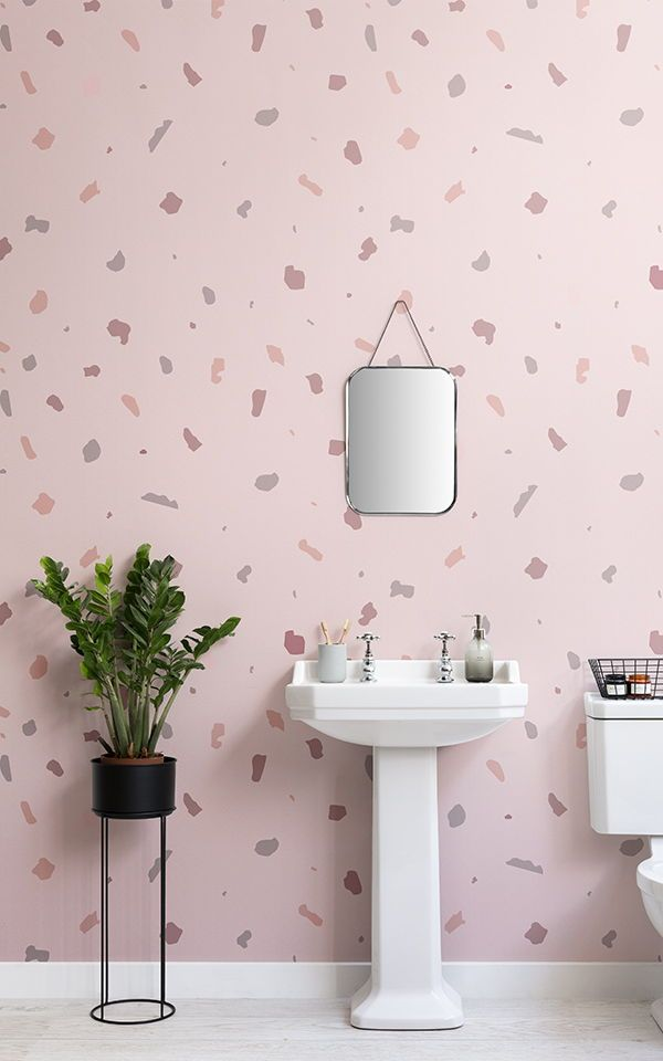 Perfectly Pink Bathroom Ideas Using Wallpaper A Mural Can Have Highly Positive Impact On Your E Creating Feelings Of