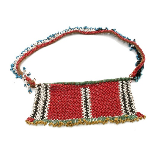 Africa | Cache-sexe from Lesotho | 20th century | Vegetable fiber, glass beads.