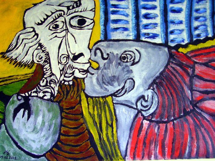coś a'la Picasso, tyle że inna chromatyka