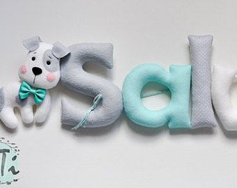 Felt baby name nursery decor Personalized Baby Nursery by TiTics