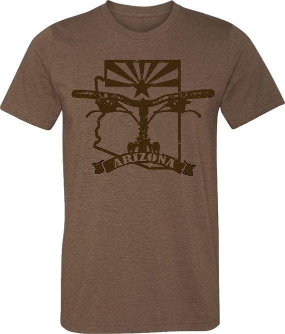 Mountain Bike T-shirt-BIKE ARIZONA-Bicycle T-shirt by SpokeNwheelz