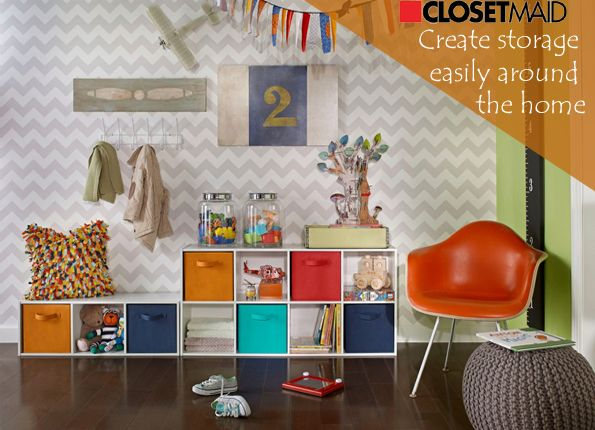 Organise My Home | Wardrobes | Storage | Shelving Use ClosetMaid Cubeicals  8 Cube And 3. Fabric DrawersCube ...
