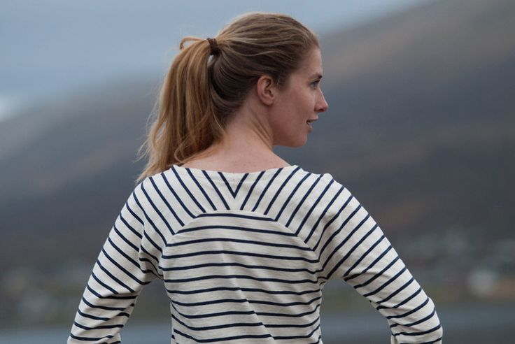 A striped Bethioua with bias binding | Indiesew.com