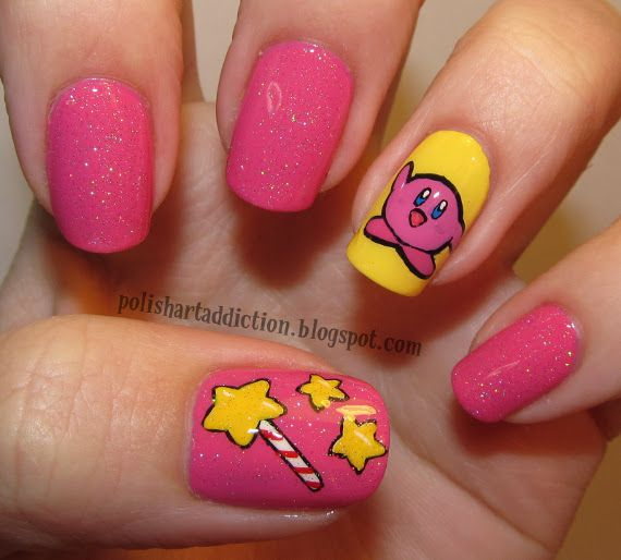 So pink it makes my eyes bleed. I'd totally do this in blue with an alternative coloured Kirby from SSB.