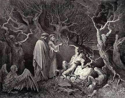 Representación de la obra de Dante