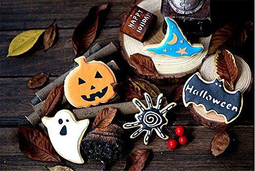 HaimoBurg 5 pezzi Halloween Stampino formine Batman forme fondente torte, biscotti e marzapane, ufficiale bursche ganasce
