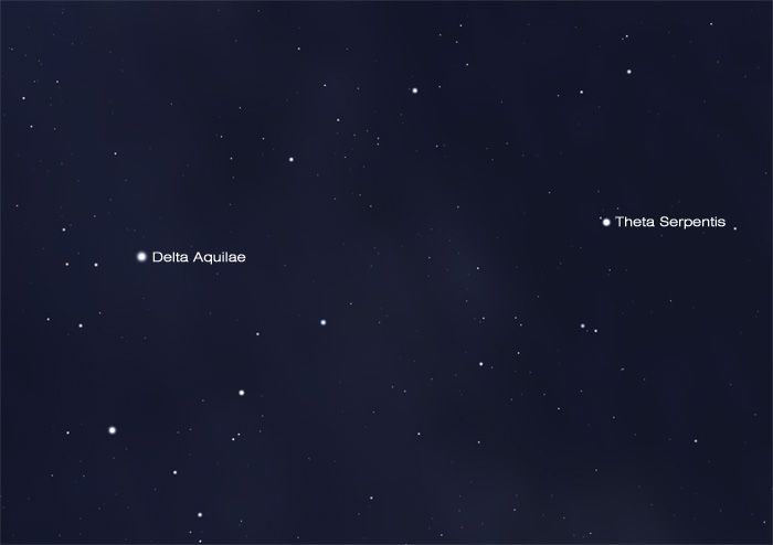 Theta Serpentis is an easily-split double #star in the #constellation Serpens Cauda. Find it through most finderscopes by starhopping from Delta Aquilae. Learn more at the link. #astronomy