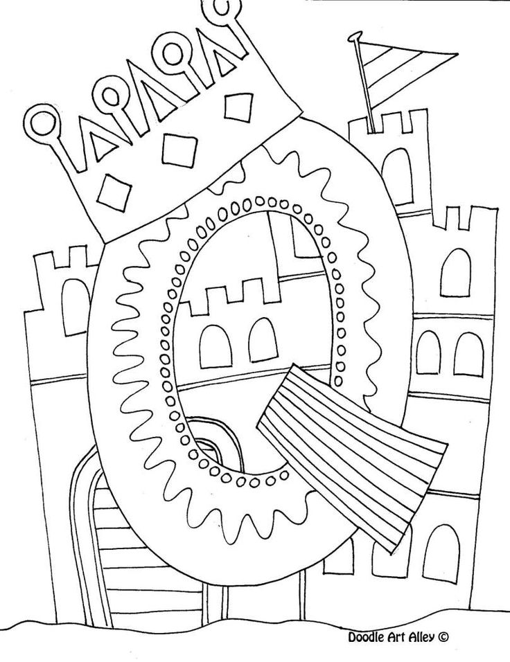 Printable Letter Q Coloring Pages : 81 best printables images on pinterest