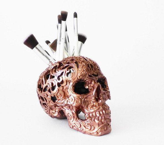 Carved Tribal Skull Skull Makeup Assessories by hodihomedecor