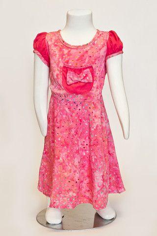 pink dress, summer dress, batik dress, toddler girls dress