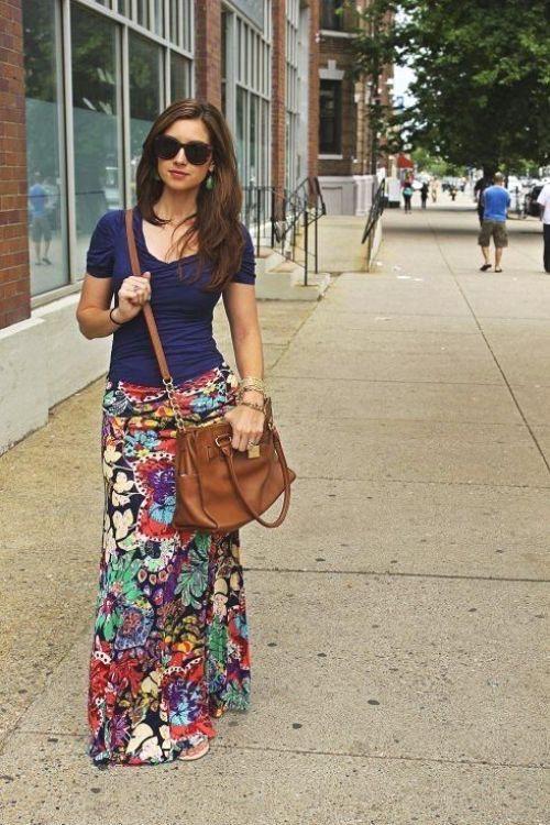 floral stylish maxi skirt