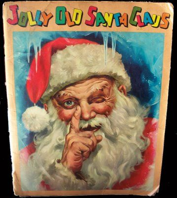 Vintage Christmas Book ~ Jolly Old Santa Claus ©1958:  I LOVED this book as a child.  Still do!  The illustrations are memorable.