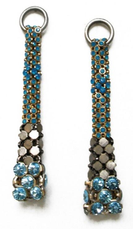 beautiful mesh earrings by Laura B
