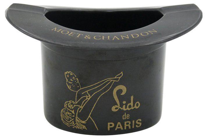 """Moët & Lido de Paris Souvenir Ashtray $95.00, 3.75""""W 3.25""""D 2.25""""H"""