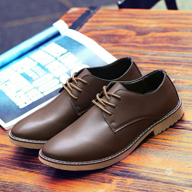 US $26 New Arrival Pointed Toe British Style Men Dress Shoes Genuine Leather Men Wingtip Shoes High Quality Zapatos Hombre