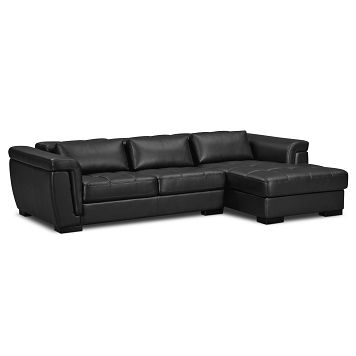 Cool American Signature Furniture Domino Leather Pc Sectional