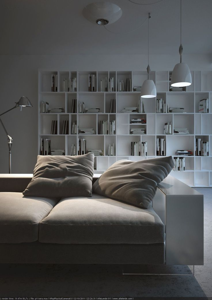 really like the unusually spaced book shelves!
