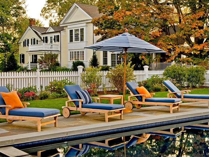 White Picket Fence with transitional outdoor chaise lounges patio traditional and chaise lounge