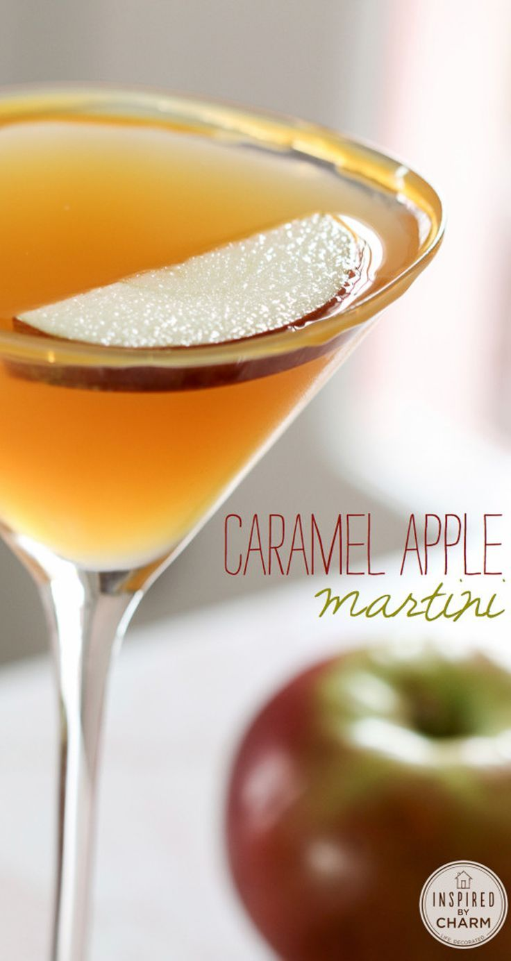 The BEST Fall Cocktail – Caramel Apple Martini – 3 ingredients #fall #cocktail #…