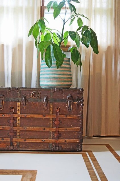 steam trunk...eclectic entry by Wind and Willow Home