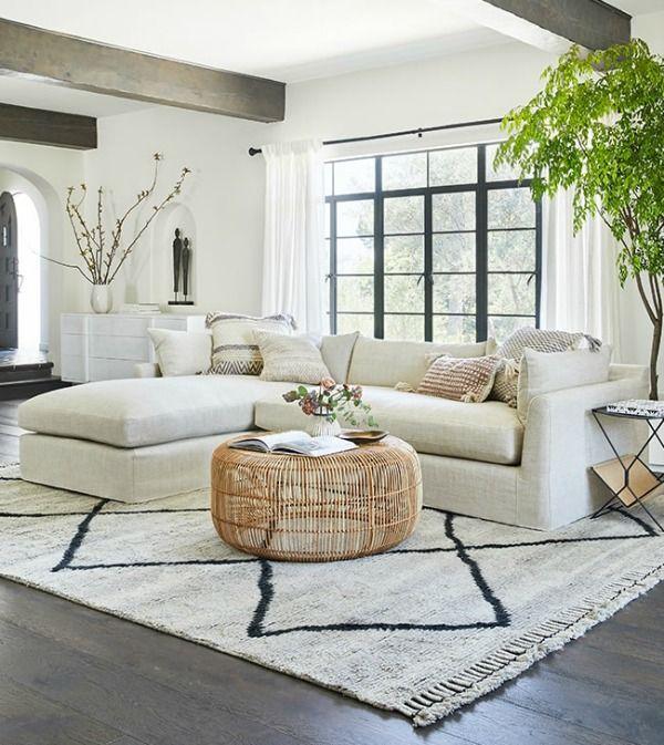 White Organic Cali Rustic Zen Design Inspiration Hello Lovely In 2020 Farm House Living Room Living Room Designs Interior Design Living Room