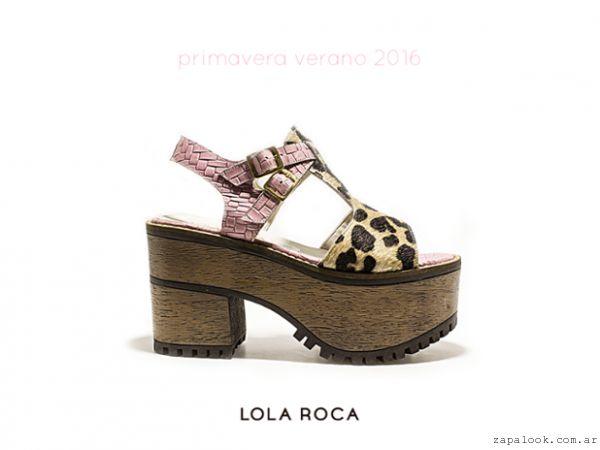 Lola Roca \u2013 Sandalias con plataformas verano 2016