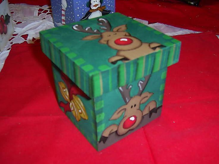 Merry christmas and christmas on pinterest - Cajas de madera decoradas ...