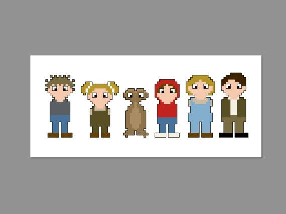 E.T. Pixel People Character Cross Stitch by CheekySharkLabs, $4.50
