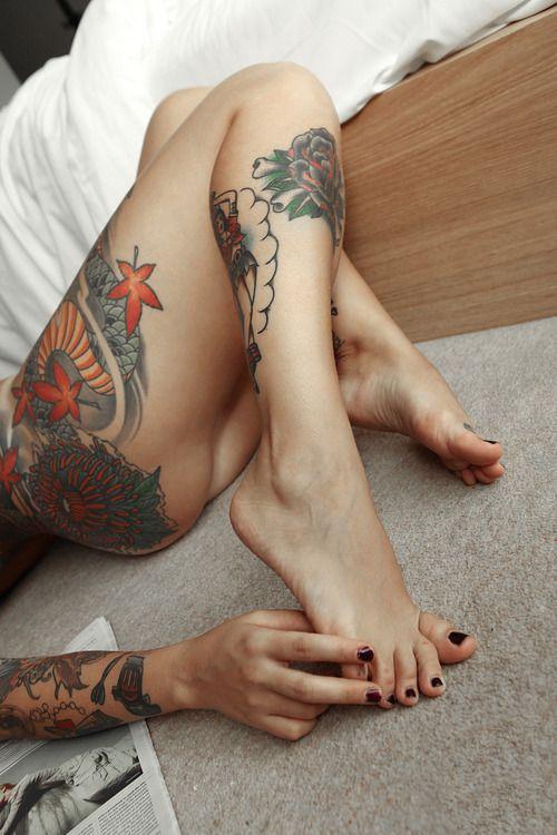 Tattoo foot fetish