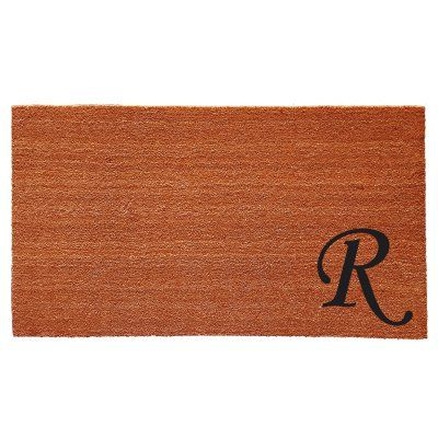 Home & More Urban Chic Monogram Doormat - 18 x 30 in. - 153621830R