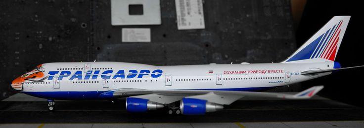 "Transaero Airlines Boeing 747-412 ""Amur Tiger Center"" EI-XLN   Inflight200 1:200"