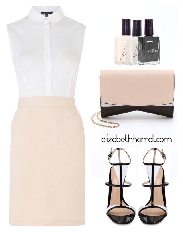 """LIZ"" by elizabethhorrell ❤ liked on Polyvore featuring Warehouse, Narciso Rodriguez, Gianvito Rossi and American Apparel"
