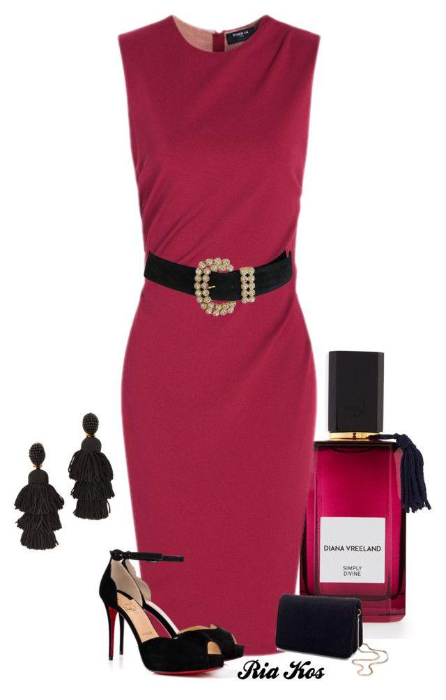 """beautiful dress"" by ria-kos ❤ liked on Polyvore featuring Diana Vreeland, Christian Louboutin, Miss Selfridge and Oscar de la Renta"