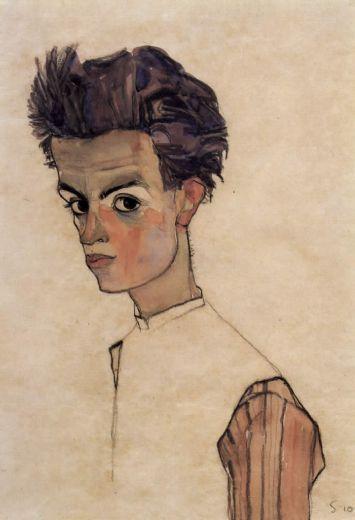 egon schiele self portrait- 1910