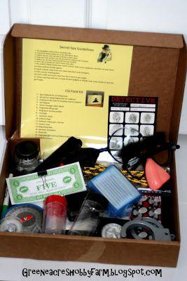 Greene Acres Hobby Farm: DIY Secret Agent Spy Kit Game