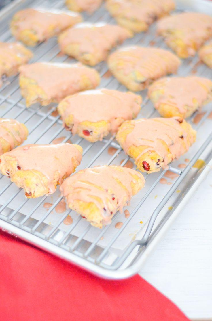 Amaretto Cherry Mini Scones w. Cinnamon + Pecans | Breakfast Recipes| Luci's Morsels :: Los Angeles Food Blog