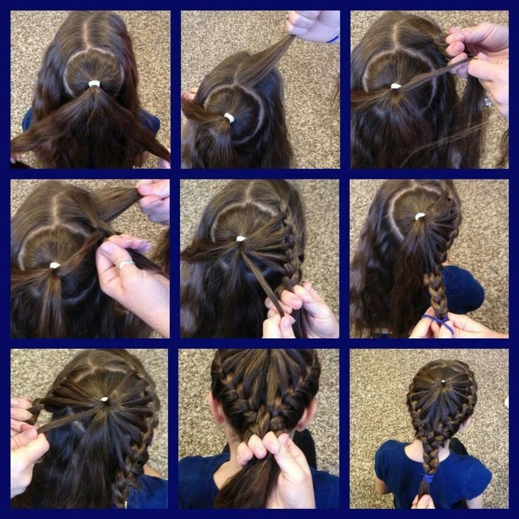 New & unusual way to french braid