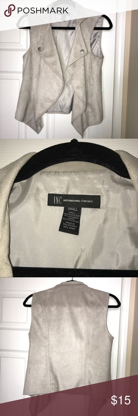 Gray/Silver Vest Great for layering INC International Concepts Jackets & Coats Vests