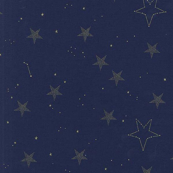 Michael Miller Magic Lucky Stars Navy 100% Cotton Fabric Patchwork Quilting Quar in Crafts, Fabric | eBay!