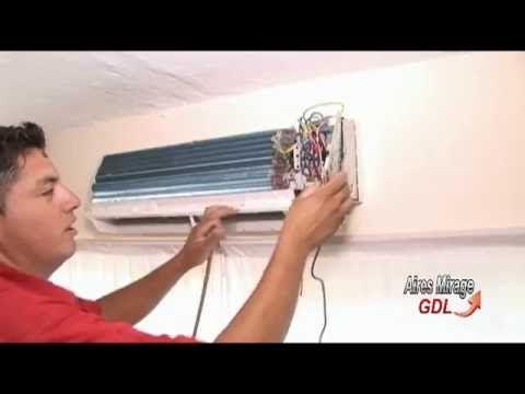 Aire acondicionado gotea (2) , desatorar obstrucción fácilmente - YouTube