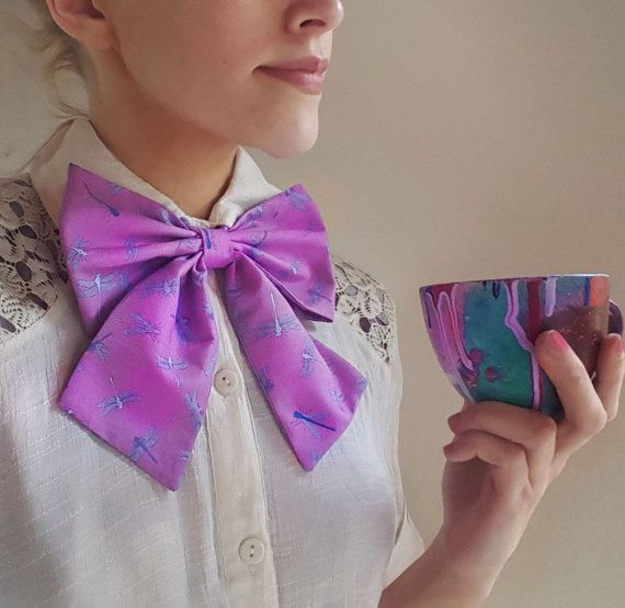 Hey, I found this really awesome Etsy listing at https://www.etsy.com/ie/listing/460251270/womens-bow-purple-bowtie-vintage-bow