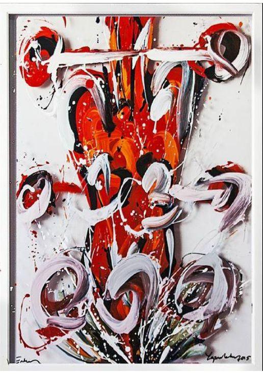 Erkan Yaprakkıran, Tutsak / Captive, 2015, Pleksi üzerine yağlıboya / Oil on plexi, 100x70cm