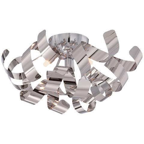 "Quoizel Ribbons 16 1/2"" Wide Polished Chrome Ceiling Light - #8D189 | Lamps Plus"