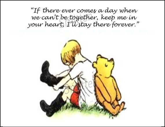 Winne the Pooh and Christopher Robin Quote 5x7 by SmittensDesigns, $6.00