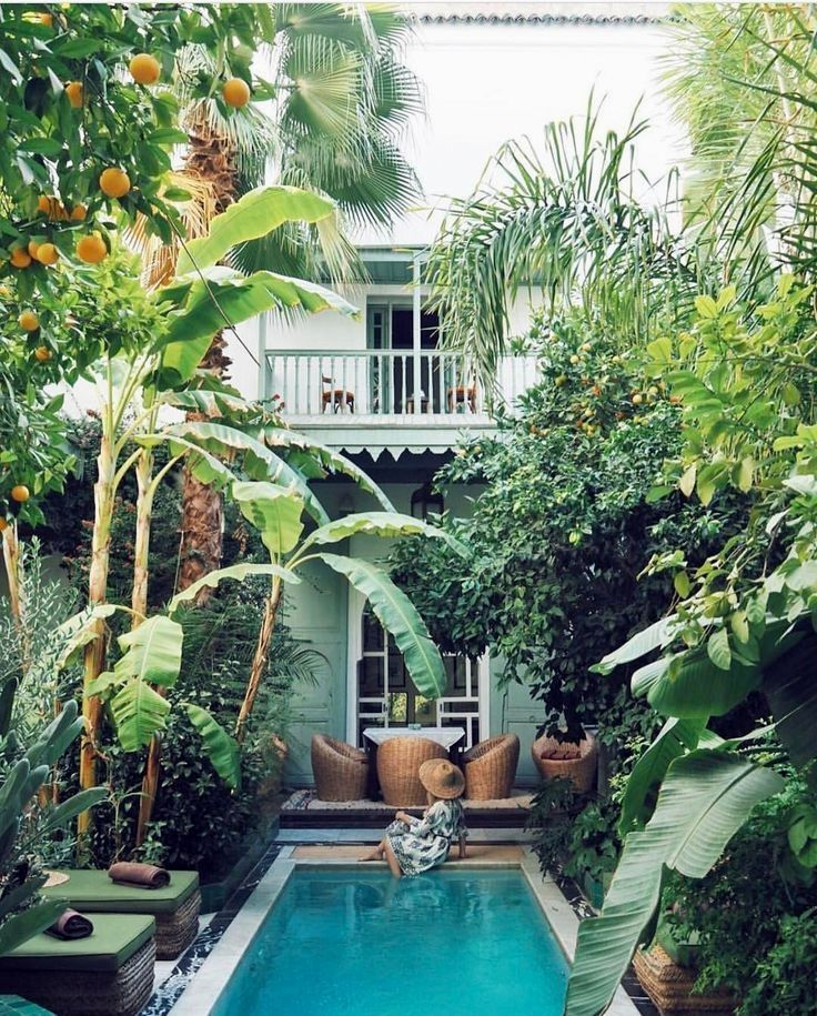 Beautiful Swimming Pool Designs Ideas And Pictures Small Pool Design Backyard Tropical Backyard