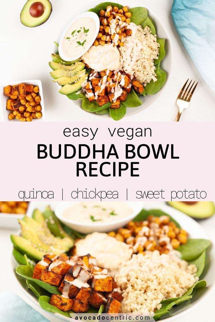 This easy vegan buddha bowl recipe is loaded with satisfying healthy toppings so it is comforting and delicious! It's gl…